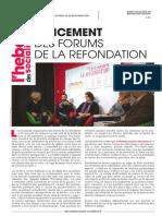 L'Hebdo des socialistes n°880 « Lancement des forums de la Refondation »
