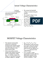 MOSFET current and Voltage characteristics