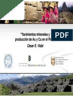 Mienrales de Au,Cu en El Peru