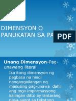Dimensyon o Panukatan Sa Pagbasa