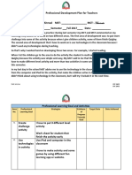 professional development plan for teachers