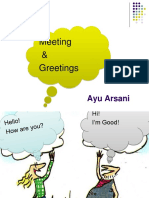 Meeting and Greetings