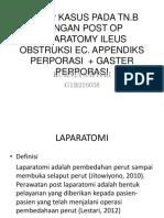 Ppt TN. B Dengan Post Op Laparatomy