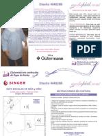 Instrucciones de Costura Bata de jardín escolar para niñas y niños NI4020b
