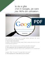 15 Metode de a Găsi INFORMAȚIA În Google