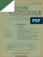 Însemnări Sociologice, Cernăuți. Anul I, Nr 4, Iulie 1935