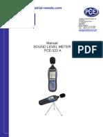 SOund Level Meter PCE 322 A ( WA.087741597949 )