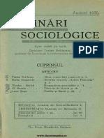 Însemnări Sociologice, Cernăuți. Anul I, Nr. 5, August 1935