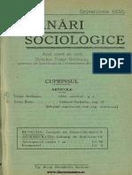 Însemnări Sociologice, Cernăuți. Anul I, Nr. 6, Septembrie 1935