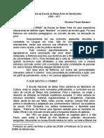 A Reforma Da Escola de Belas Artes de Montevidéu