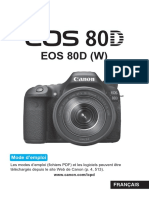 EOS 80D Instruction Manual FR