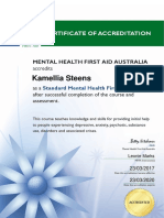 mental health first aid full certificate