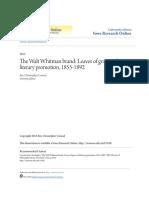 The Walt Whitman Brand- Leaves of Grass