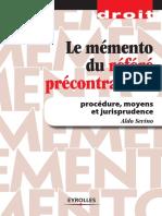 Aldo Sevino - Le Memento Du Refere Precontractuel