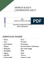 PPT Lapsus (Tonsilofaringitis Akut)