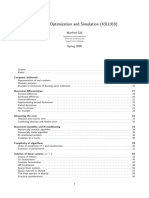 Numerical Optimization and Simulation