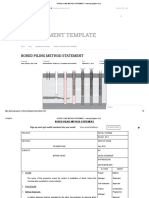 Bored Piling Method Statement – Planning Engineer Est