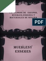 Catalogo de Muebles Equipos y Enseres