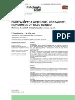 Encefalopatia Wernicke Korsakoff