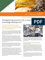 Strengtheningwomensroleinresearchandknowledge Developement
