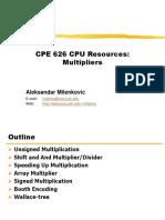cpe626-Multipliers