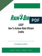 !!!Water Efficient Credit