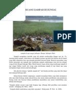 Membuang Sampah Di Sungai