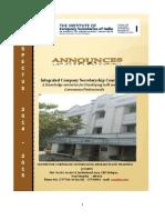 Final_prospectus_Integrated Companysecretaryship Course_updated on Apr 11, 2014