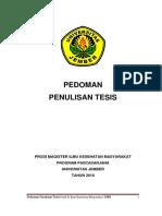 PEDOMAN TESIS