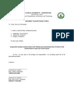 Adviser Acceptance Form