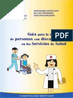 Guia Para La Atencion de Personas Con Discapacidad en Los Servicios de Salud