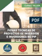 Fichas Técnicas de Proyectos de Inversión e Inversiones No Pip. 20171