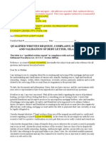 RESPA Qualified Written Request (QWR), Complaint, Dispute and Validation of Debt, TILA Request
