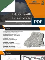 Lab#6 Dacitas & Riolitas