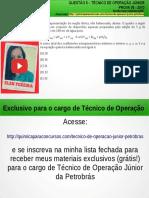Técnico de Operação Júnior PETROBRAS Questão 5 Resolvida da Prova 35 PETROBRAS Março/2010