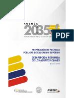 Agenda 2035 Educación Superior -Ecuador