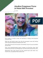 Cara Mengoptimalkan Penggunaan Warna Yang Harmonis Dalam Slide Presentasi