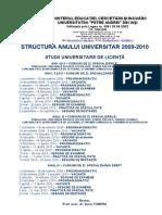 Structura Anului 2009-2010