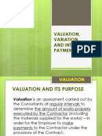 Interim Valuation and Payment
