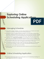 exploring online scheduling applications