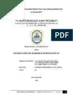 BARRERAS BUROCRATICAS - D° DE LA COMPETENCIA