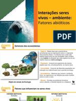 Interações seres vivos - ambiente- Fatores abióticos.pptx