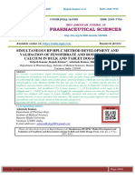 SIMULTANEOUS RP-HPLC METHOD DEVELOPMENT AND VALIDATION OF FENOFIBRATE AND ROSUVASTATIN CALCIUM IN BULK AND TABLET DOSAGE FORM