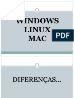 Diferenças entre Sistemas Operacionais