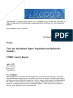 Food and Agricultural Import Regulations and Standards Narrative Belgrade Serbia 12-19-2013