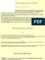 Financial Bid for Percentage Rate Contract