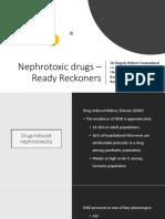 Nephrotoxic Drugs – Ready Reckoners