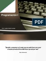 Unidad I - Lenguaje de Programación