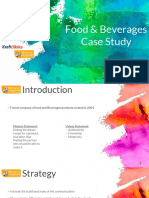 Strategy Food Beverage Ppt