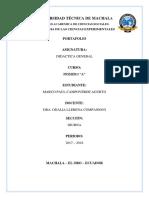 Didactica General Porfaolio